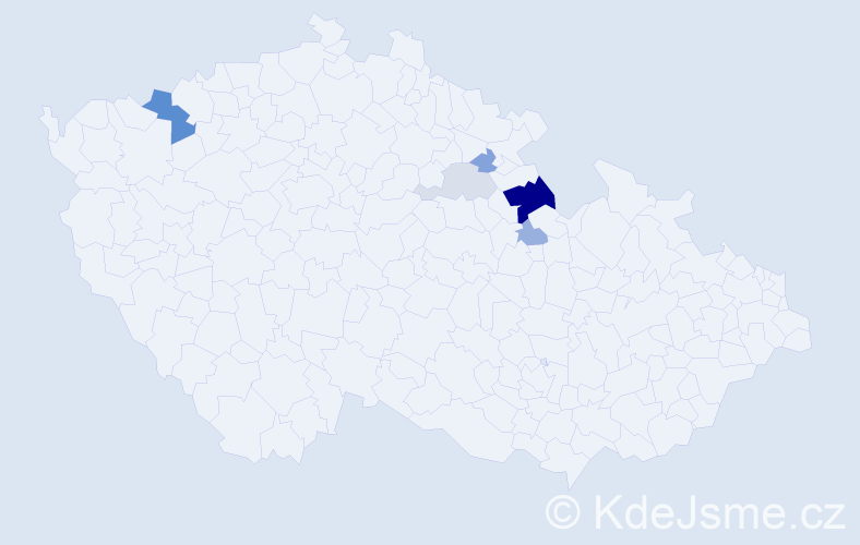 Příjmení: 'Lali', počet výskytů 14 v celé ČR