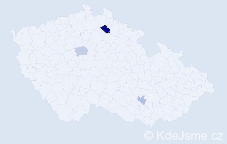 Příjmení: 'Bělousová', počet výskytů 4 v celé ČR