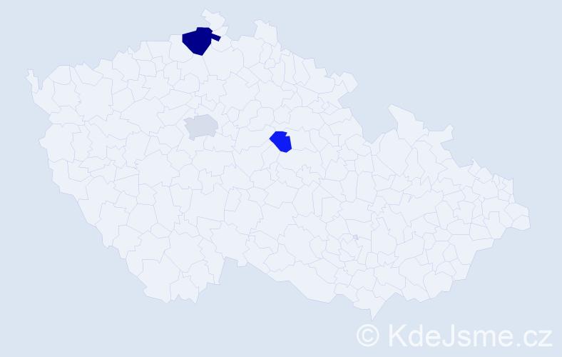 Příjmení: 'Gablík', počet výskytů 7 v celé ČR