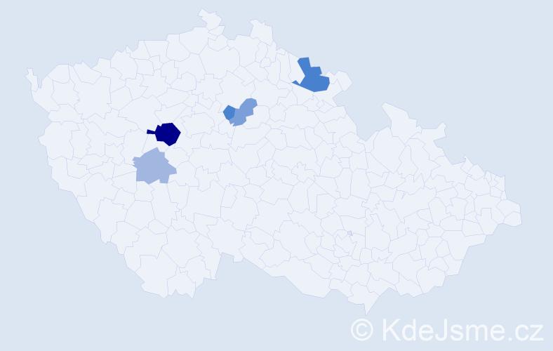 Příjmení: 'Holotina', počet výskytů 11 v celé ČR