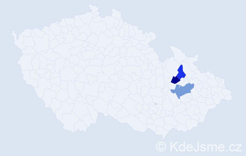 Příjmení: 'Ganiecová', počet výskytů 12 v celé ČR