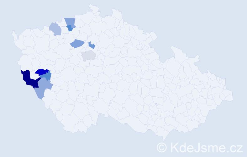 Příjmení: 'Löffelman', počet výskytů 17 v celé ČR