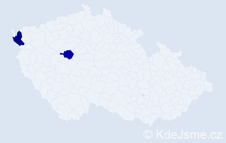 Příjmení: 'Crivancová', počet výskytů 2 v celé ČR