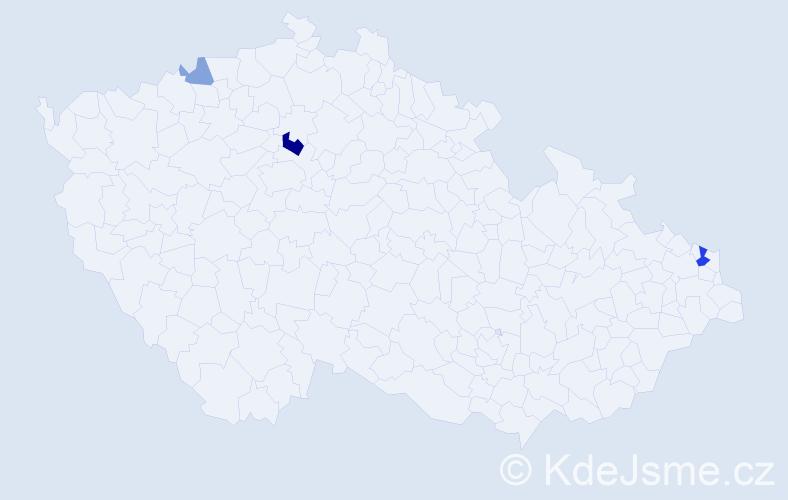 Příjmení: 'Čemerová', počet výskytů 7 v celé ČR