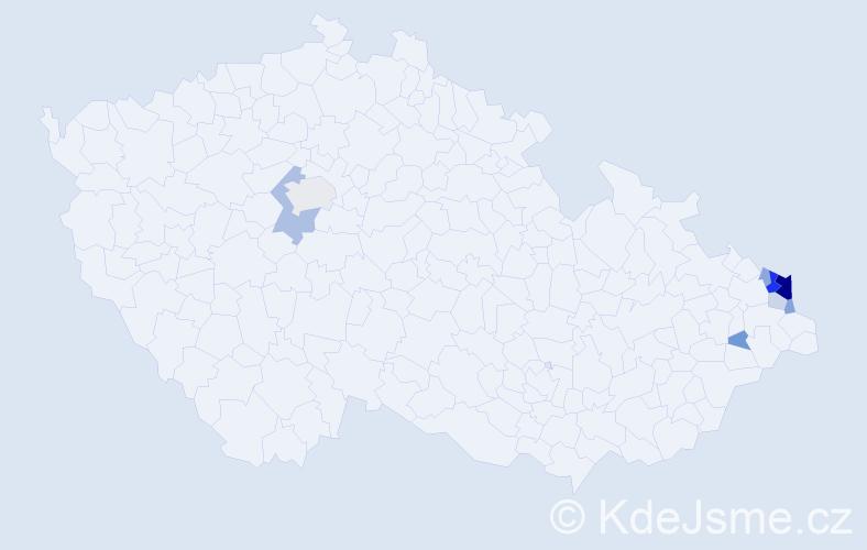 Příjmení: 'Babczynská', počet výskytů 24 v celé ČR