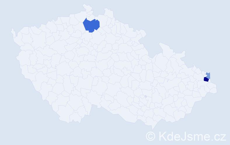 Příjmení: 'Brezo', počet výskytů 7 v celé ČR