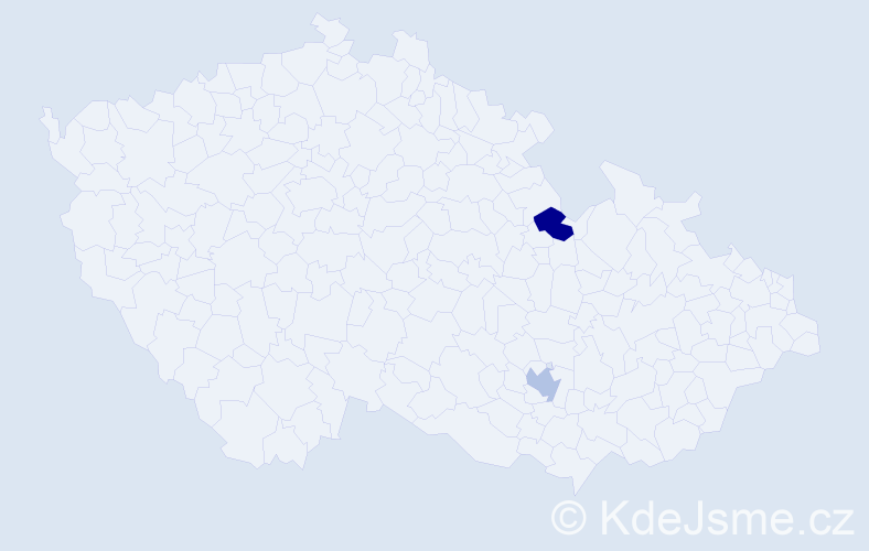 Příjmení: 'Campos', počet výskytů 2 v celé ČR