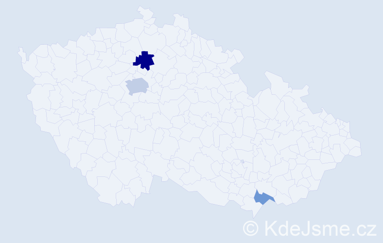 Příjmení: 'Eriksson', počet výskytů 10 v celé ČR