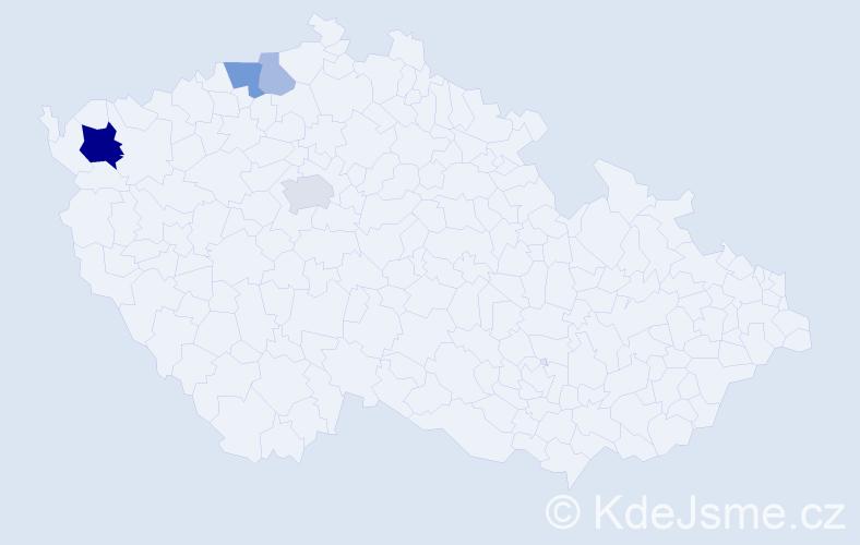 Příjmení: 'Eisenmannová', počet výskytů 10 v celé ČR