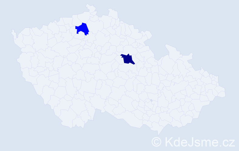 Příjmení: 'Dworschak', počet výskytů 6 v celé ČR