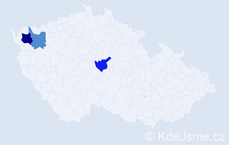 Příjmení: 'Kufrer', počet výskytů 4 v celé ČR