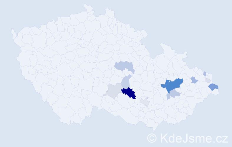 Příjmení: 'Abeska', počet výskytů 38 v celé ČR