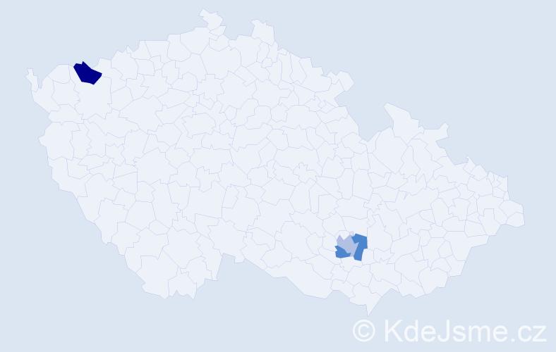 Příjmení: 'Kamannová', počet výskytů 3 v celé ČR