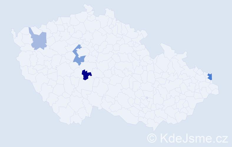 Příjmení: 'Gerlašinská', počet výskytů 7 v celé ČR