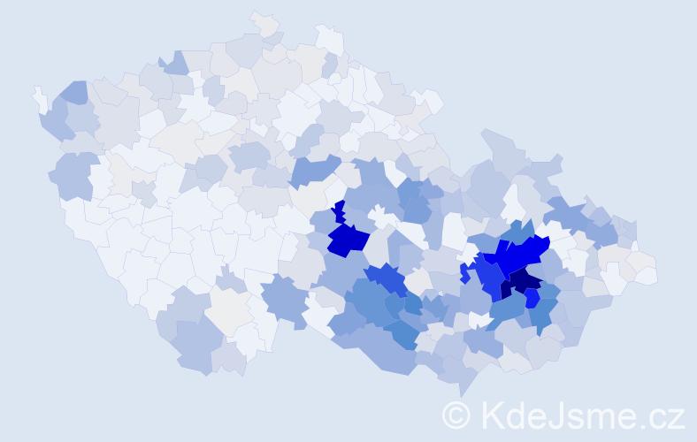 Příjmení: 'Dočkal', počet výskytů 1636 v celé ČR