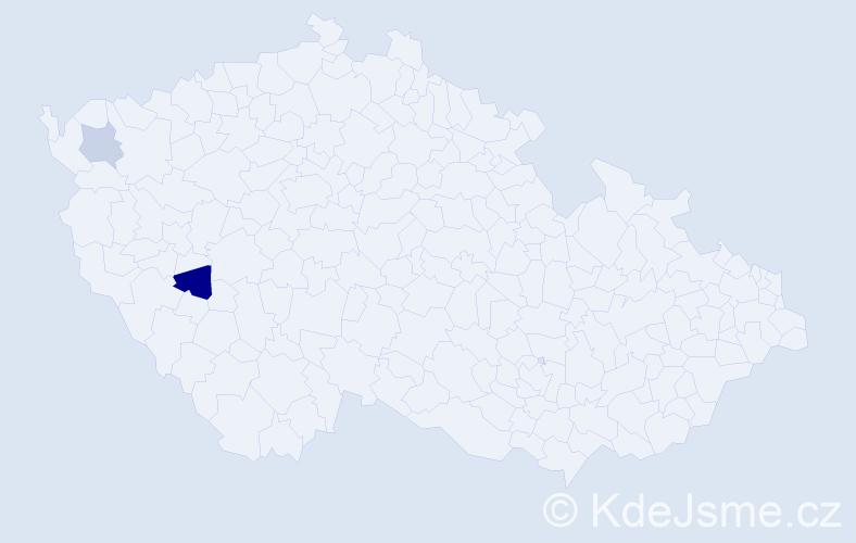 Příjmení: 'Kohlenberger', počet výskytů 3 v celé ČR