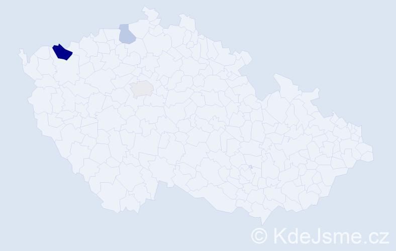 Příjmení: 'Genkov', počet výskytů 5 v celé ČR