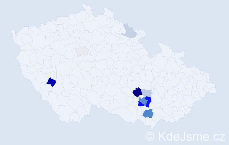 Příjmení: 'Habrovcová', počet výskytů 39 v celé ČR
