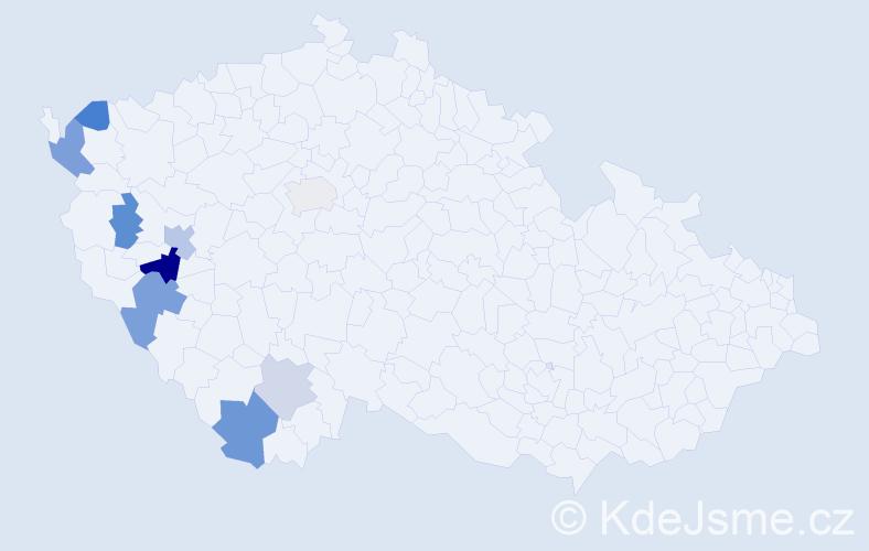 Příjmení: 'Kotovská', počet výskytů 15 v celé ČR
