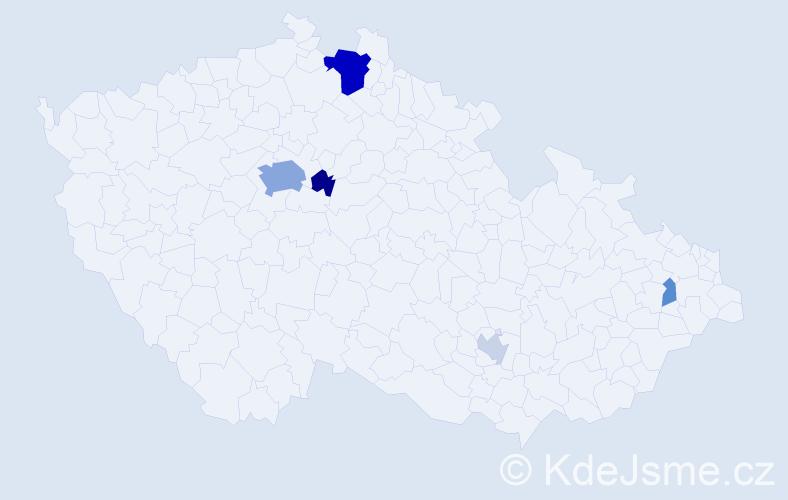 Příjmení: 'Buss', počet výskytů 16 v celé ČR