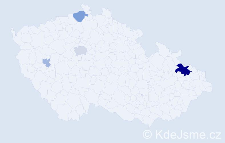 Příjmení: 'Ibler', počet výskytů 8 v celé ČR