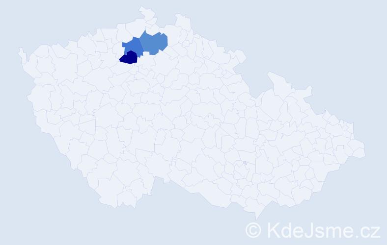 Příjmení: 'Čavnický', počet výskytů 3 v celé ČR