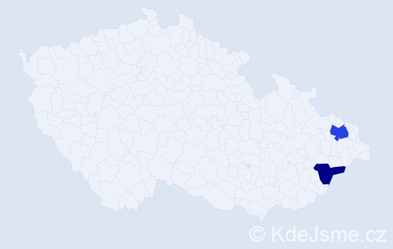 Příjmení: 'Kálnay', počet výskytů 3 v celé ČR