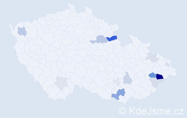 Příjmení: 'Lenomarová', počet výskytů 31 v celé ČR