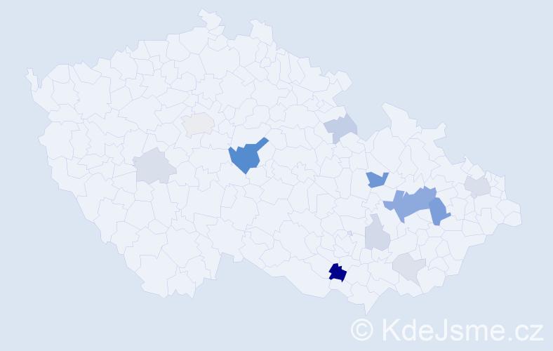Příjmení: 'Hulman', počet výskytů 33 v celé ČR