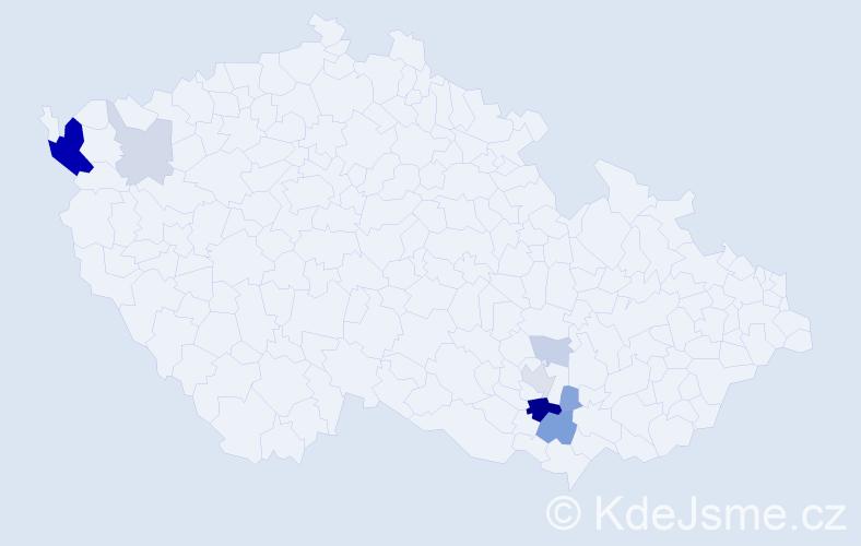 Příjmení: 'Kirch', počet výskytů 23 v celé ČR