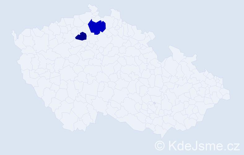 Příjmení: 'Iovanovici', počet výskytů 3 v celé ČR