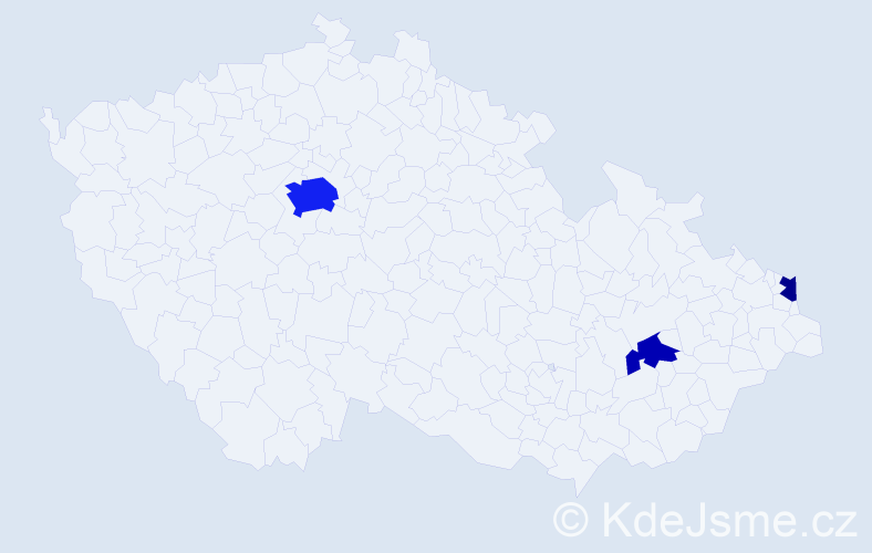 Příjmení: 'Georgiou', počet výskytů 9 v celé ČR