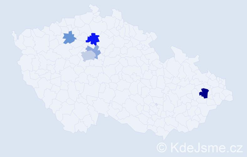 Příjmení: 'Lencsés', počet výskytů 11 v celé ČR