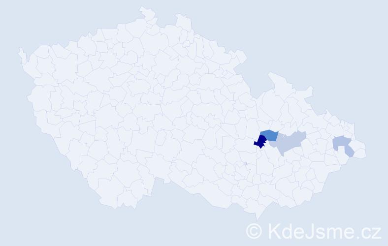 Příjmení: 'Arelý', počet výskytů 4 v celé ČR