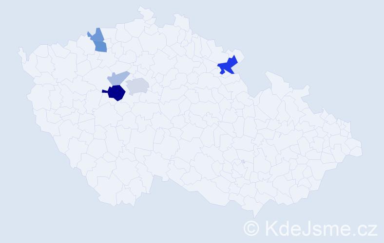 Příjmení: 'Entlich', počet výskytů 14 v celé ČR