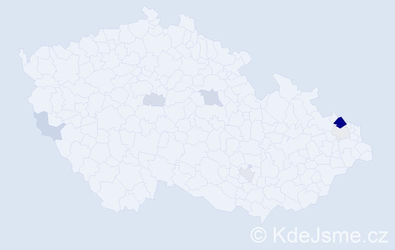 Příjmení: 'Enderová', počet výskytů 20 v celé ČR