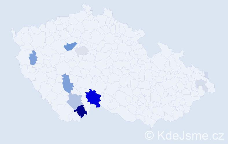 Příjmení: 'Jann', počet výskytů 35 v celé ČR