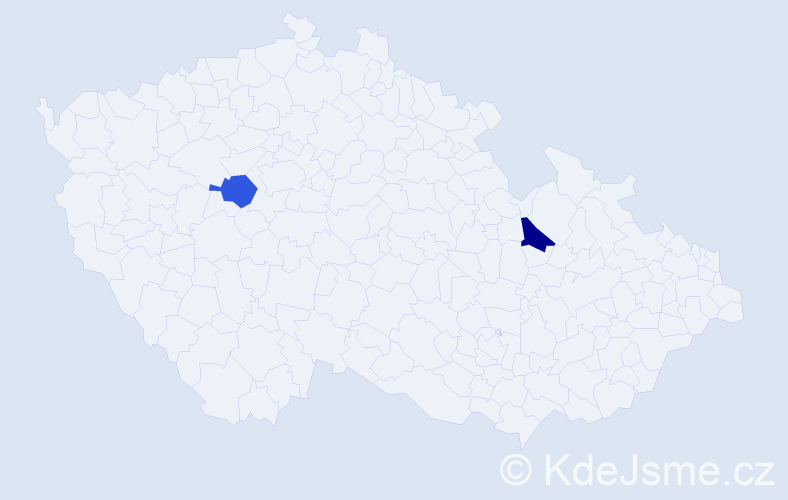 Příjmení: 'Adamecký', počet výskytů 2 v celé ČR