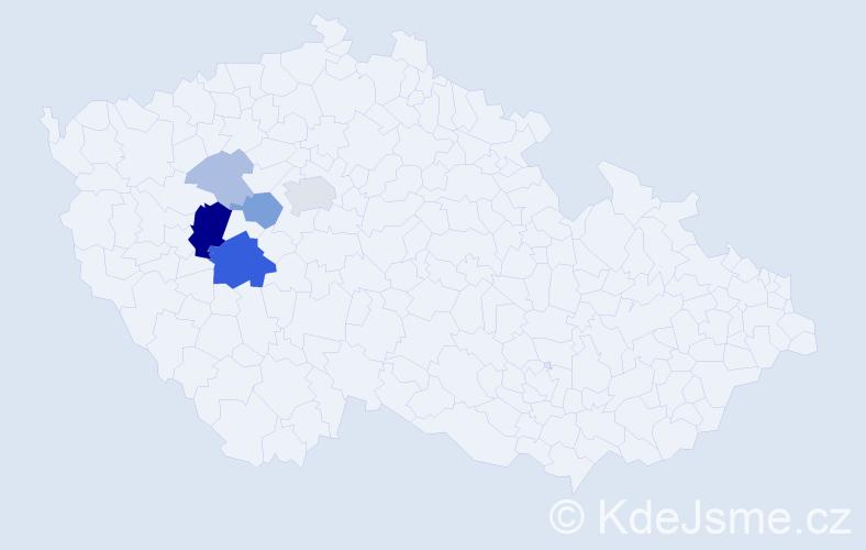 Příjmení: 'Kraidl', počet výskytů 17 v celé ČR