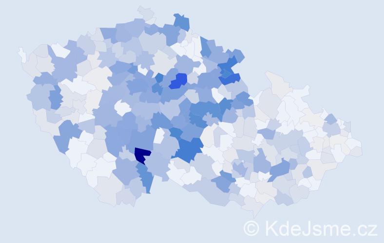 Příjmení: 'Čáp', počet výskytů 1798 v celé ČR