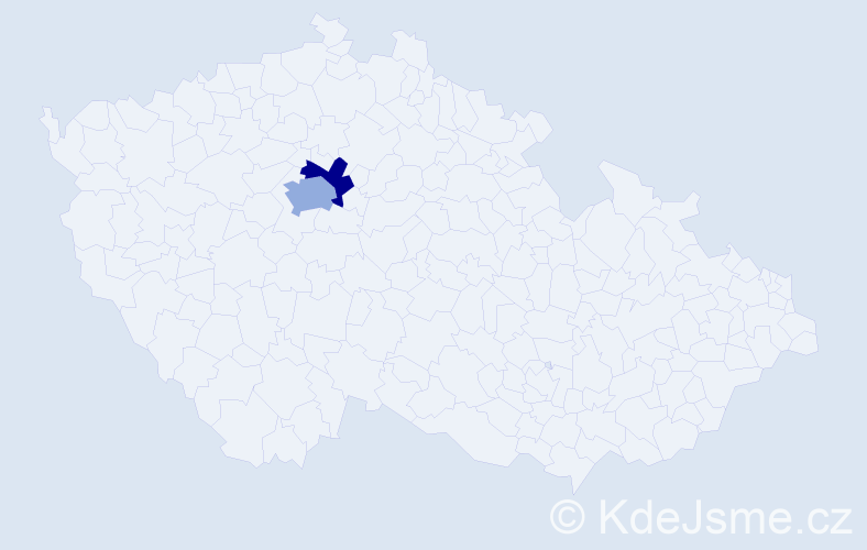 Příjmení: 'Hoos', počet výskytů 8 v celé ČR