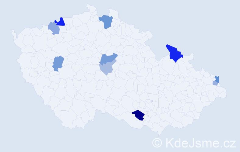 Příjmení: 'Čarnogurská', počet výskytů 30 v celé ČR
