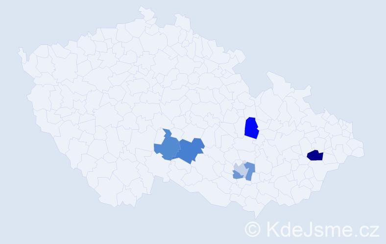 Příjmení: 'Haikerová', počet výskytů 16 v celé ČR