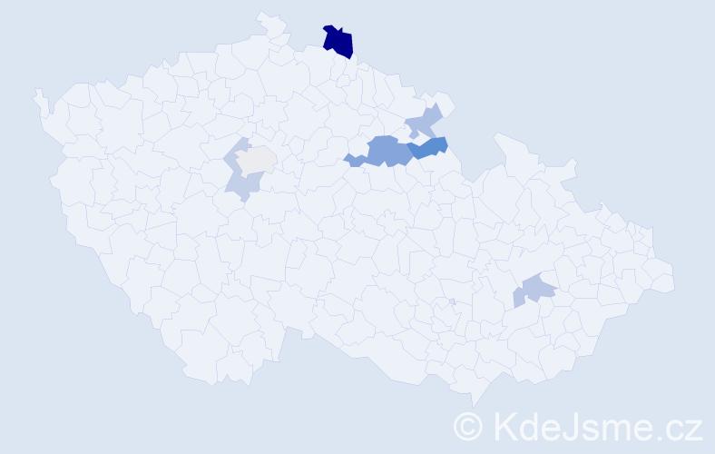 Příjmení: 'Dachsová', počet výskytů 11 v celé ČR