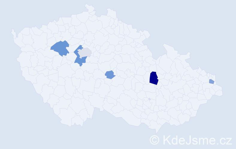 Příjmení: 'Cedzová', počet výskytů 20 v celé ČR