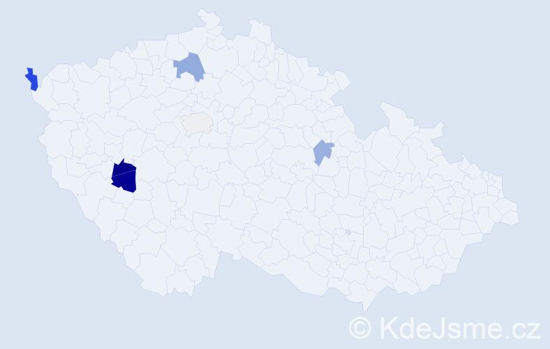 Příjmení: 'Ivanjuk', počet výskytů 10 v celé ČR