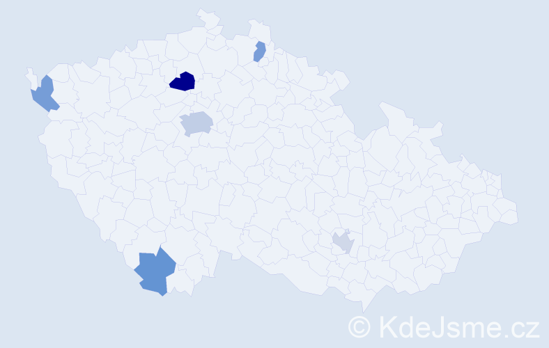 Příjmení: 'Libertín', počet výskytů 10 v celé ČR