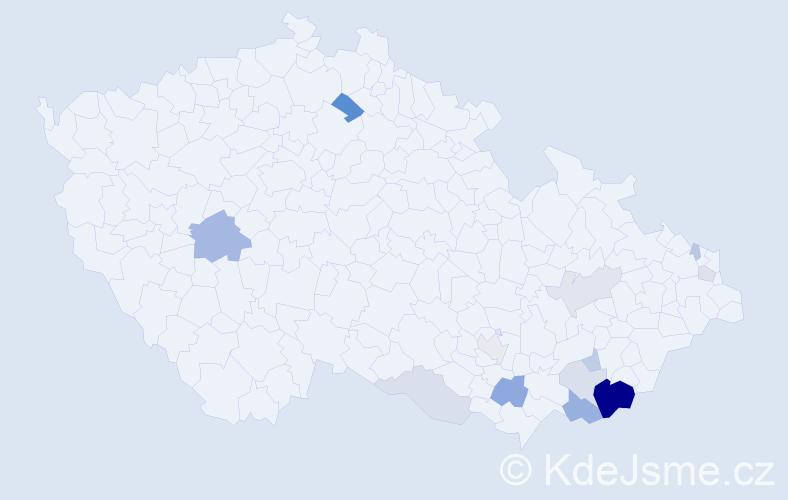 Příjmení: 'Breznický', počet výskytů 31 v celé ČR