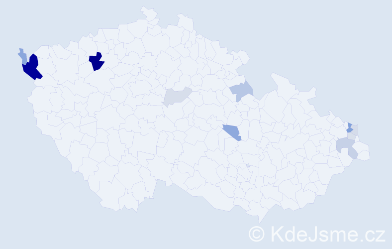 Příjmení: 'Fizer', počet výskytů 31 v celé ČR