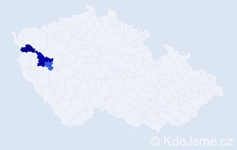 Příjmení: 'Dohrmann', počet výskytů 6 v celé ČR